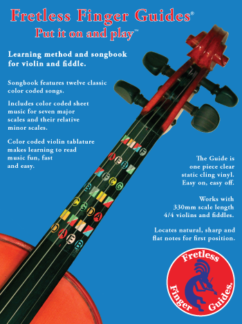 image for learn how to play violin or how to fiddle with the fretless finger guides learning method and songbook